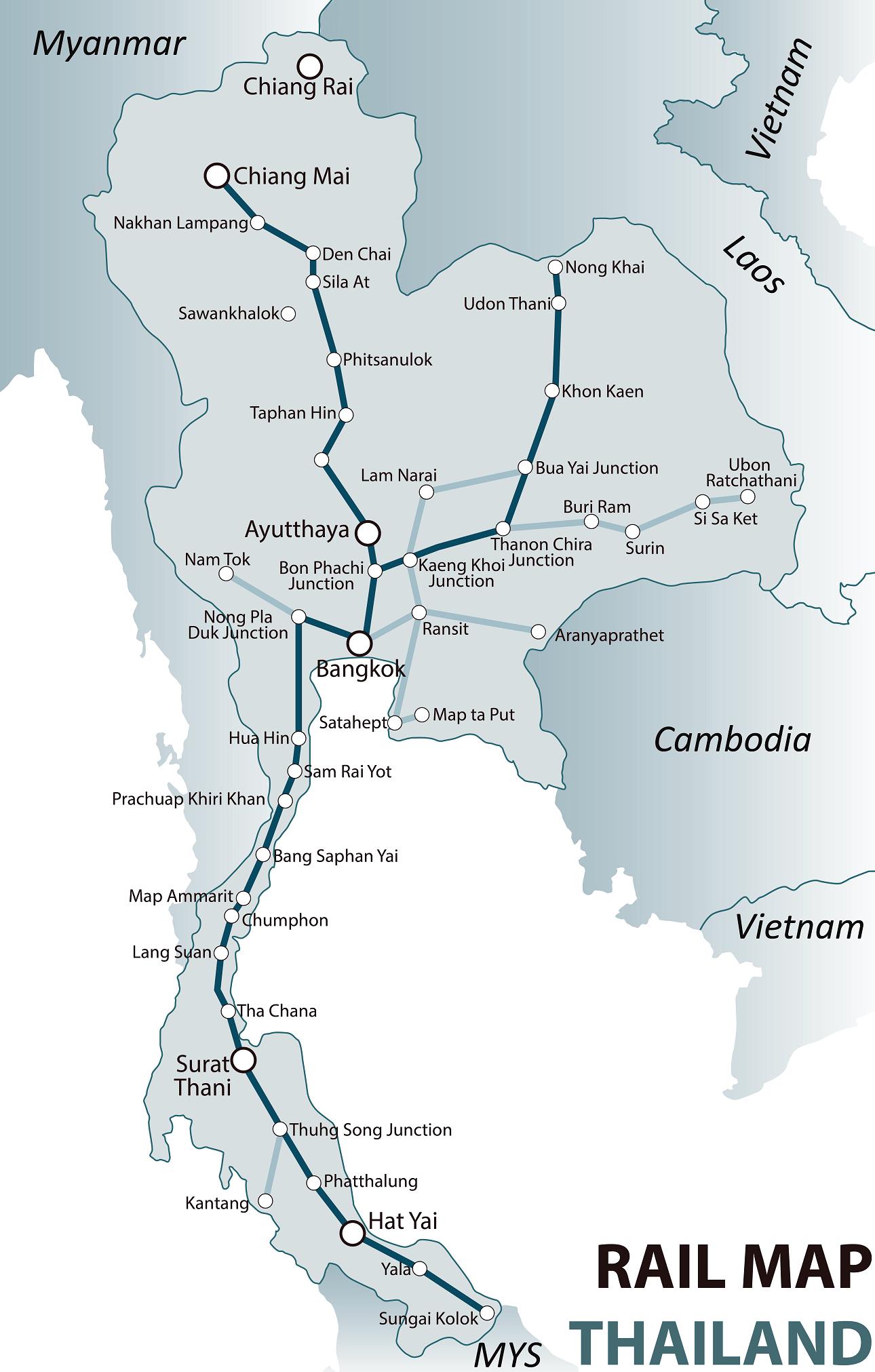 Thailand rail map