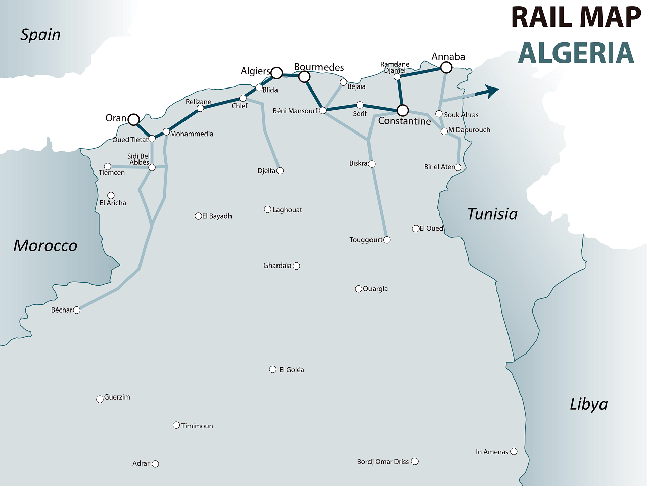 algeria rail map
