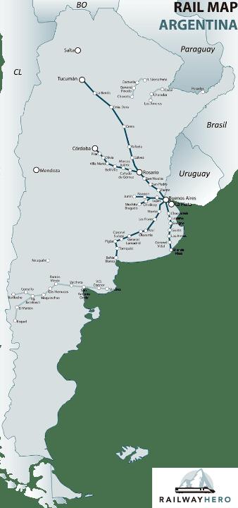 argentina rail map