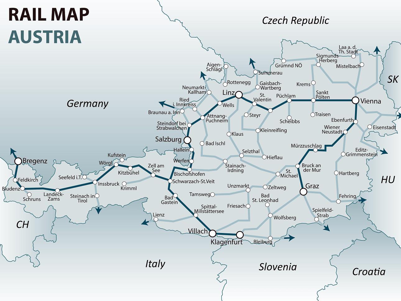 austria rail map