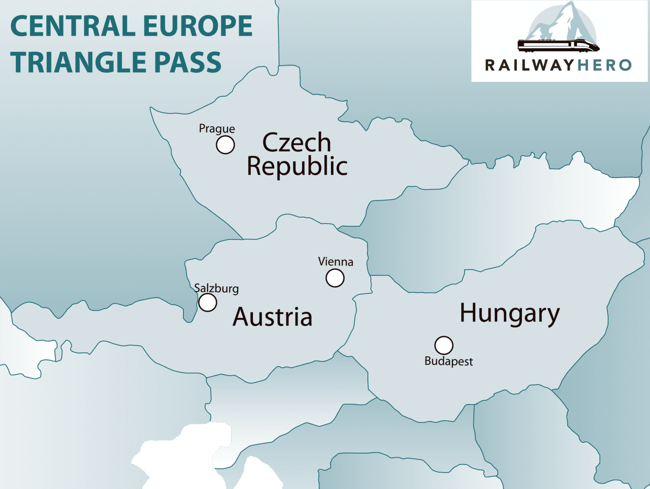 central europe triangle pass map