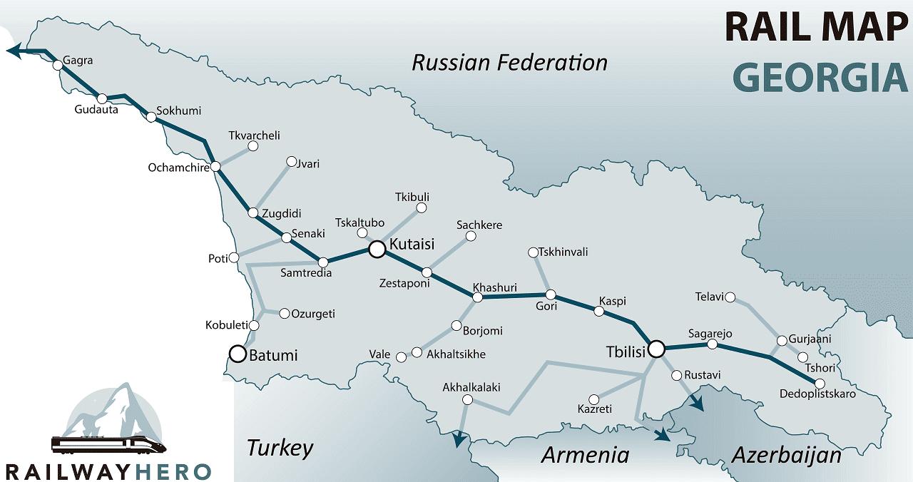 Georgia rail map